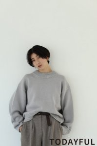 TODAYFUL トゥデイフル Roundhem Heavy Knit 11920507 【19AW1】【新作】 <img class='new_mark_img2' src='https://img.shop-pro.jp/img/new/icons11.gif' style='border:none;display:inline;margin:0px;padding:0px;width:auto;' />