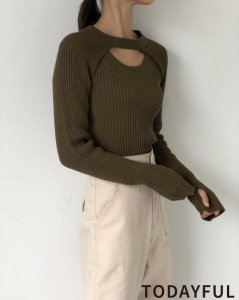 TODAYFUL トゥデイフル Ensemble Rib Knit 11920509 【19AW1】【先行予約】【クレジット限定 納期8月〜9月頃予定】 <img class='new_mark_img2' src='https://img.shop-pro.jp/img/new/icons15.gif' style='border:none;display:inline;margin:0px;padding:0px;width:auto;' />