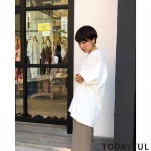 TODAYFUL トゥデイフル Cuff Print T-Shirts 11920615 【19AW1】【新作】 <img class='new_mark_img2' src='https://img.shop-pro.jp/img/new/icons11.gif' style='border:none;display:inline;margin:0px;padding:0px;width:auto;' />