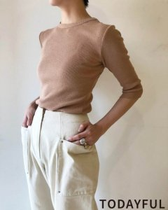 TODAYFUL トゥデイフル BackLayered Rib Tops 11920617 【19AW1】【先行予約】【クレジット限定 納期8月〜9月頃予定】 <img class='new_mark_img2' src='https://img.shop-pro.jp/img/new/icons15.gif' style='border:none;display:inline;margin:0px;padding:0px;width:auto;' />