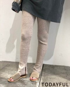 TODAYFUL トゥデイフル Flare Knit Leggings 11921011 【19AW1】【先行予約】【クレジット限定 納期8月〜9月頃予定】 <img class='new_mark_img2' src='https://img.shop-pro.jp/img/new/icons15.gif' style='border:none;display:inline;margin:0px;padding:0px;width:auto;' />