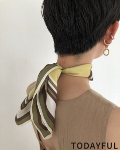 TODAYFUL トゥデイフル Silk Square Scarf 11921016 【19AW1】【先行予約】【クレジット限定 納期8月〜9月頃予定】 <img class='new_mark_img2' src='https://img.shop-pro.jp/img/new/icons15.gif' style='border:none;display:inline;margin:0px;padding:0px;width:auto;' />