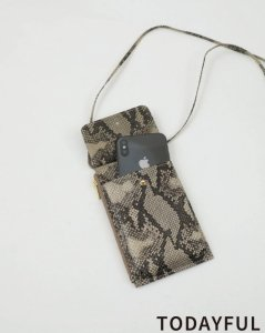 TODAYFUL トゥデイフル Python Smartphone Pochette 11921017 【19AW1】【新作】 <img class='new_mark_img2' src='https://img.shop-pro.jp/img/new/icons11.gif' style='border:none;display:inline;margin:0px;padding:0px;width:auto;' />