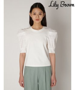 LILY BROWN リリーブラウン 異素材袖ボリュームカットトップス LWCT201137 【20SS1】【SALE】【40%OFF】<img class='new_mark_img2' src='https://img.shop-pro.jp/img/new/icons20.gif' style='border:none;display:inline;margin:0px;padding:0px;width:auto;' />
