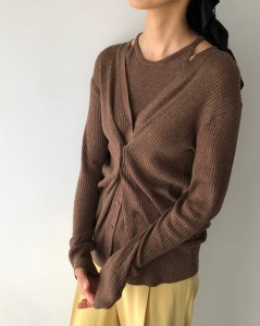 TODAYFUL トゥデイフル Layered Knit Cardigan 12010501 【20SS1】【SALE】【20%OFF】<img class='new_mark_img2' src='https://img.shop-pro.jp/img/new/icons20.gif' style='border:none;display:inline;margin:0px;padding:0px;width:auto;' />
