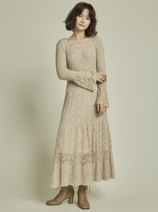 LILY BROWN リリーブラウン フワフワ透かし編みニットワンピ LWNO205070 【20AW2】【新作】 <img class='new_mark_img2' src='https://img.shop-pro.jp/img/new/icons11.gif' style='border:none;display:inline;margin:0px;padding:0px;width:auto;' />