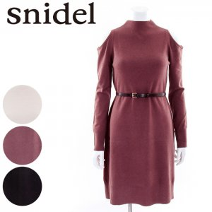 SNIDEL スナイデル ベルト付オープンショルダーOP SWNO165065 【16AW2】【SALE】【50%OFF】 <img class='new_mark_img2' src='https://img.shop-pro.jp/img/new/icons20.gif' style='border:none;display:inline;margin:0px;padding:0px;width:auto;' />