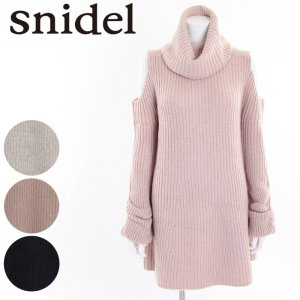 SNIDEL スナイデル オープンショルダーニットOP SWNO165069 【16AW2】【SALE】【50%OFF】 <img class='new_mark_img2' src='https://img.shop-pro.jp/img/new/icons20.gif' style='border:none;display:inline;margin:0px;padding:0px;width:auto;' />