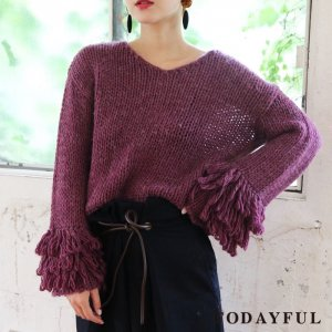【SOLDOUT】TODAYFUL トゥデイフル Loop Cuff Knit 11720544 【17AW2】【60☆】<img class='new_mark_img2' src='https://img.shop-pro.jp/img/new/icons47.gif' style='border:none;display:inline;margin:0px;padding:0px;width:auto;' />