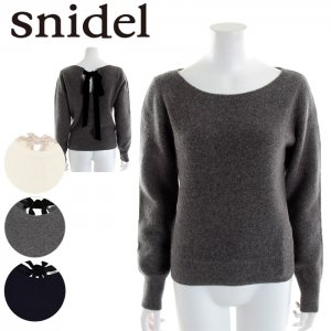 SNIDEL スナイデル バックリボンニットPO SWNT165105 【16AW2】【SALE】【50%OFF】 <img class='new_mark_img2' src='https://img.shop-pro.jp/img/new/icons20.gif' style='border:none;display:inline;margin:0px;padding:0px;width:auto;' />