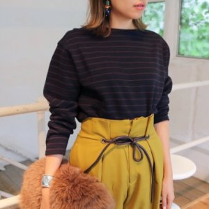 TODAYFUL トゥデイフル Doubleface Border Tops 11720628 【17AW2】【先行予約】【クレジット限定 納期11月〜12月頃予定】 <img class='new_mark_img2' src='https://img.shop-pro.jp/img/new/icons15.gif' style='border:none;display:inline;margin:0px;padding:0px;width:auto;' />