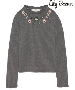 【SOLDOUT】LILY BROWN リリーブラウン 刺繍カットトップス LWCT165059 【16AW2】【50☆】<img class='new_mark_img2' src='https://img.shop-pro.jp/img/new/icons47.gif' style='border:none;display:inline;margin:0px;padding:0px;width:auto;' />