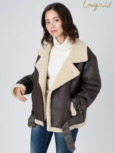 【SOLDOUT】UNGRID アングリッド 【Ca】フェイクムートンコート 111750201301 【17AW1】<img class='new_mark_img2' src='https://img.shop-pro.jp/img/new/icons47.gif' style='border:none;display:inline;margin:0px;padding:0px;width:auto;' />