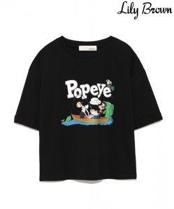 【SOLDOUT】LILY BROWN リリーブラウン POPEYETシャツ LWCT181203 【18SS1】<img class='new_mark_img2' src='https://img.shop-pro.jp/img/new/icons47.gif' style='border:none;display:inline;margin:0px;padding:0px;width:auto;' />