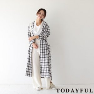 TODAYFUL トゥデイフル Check Rough Gown 11810009 【18SS1】【先行予約】【クレジット限定 納期2月〜3月頃予定】 <img class='new_mark_img2' src='https://img.shop-pro.jp/img/new/icons15.gif' style='border:none;display:inline;margin:0px;padding:0px;width:auto;' />