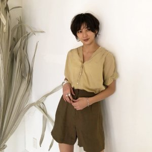 TODAYFUL トゥデイフル Collarless Voile Shirts 11810433 【18SS2】【先行予約】【クレジット限定 納期5月〜6月頃予定】 <img class='new_mark_img2' src='https://img.shop-pro.jp/img/new/icons15.gif' style='border:none;display:inline;margin:0px;padding:0px;width:auto;' />