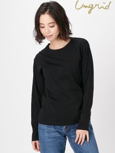 UNGRID アングリッド 【Ca】BASIC ロングスリーブTee 111812737401 【18SS2】【SALE】【30%OFF】<img class='new_mark_img2' src='//img.shop-pro.jp/img/new/icons20.gif' style='border:none;display:inline;margin:0px;padding:0px;width:auto;' />