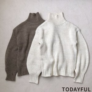 TODAYFUL トゥデイフル Bulky Turtle Knit 11820559 【18AW2】【先行予約】【クレジット限定 納期12月〜1月頃予定】【人気商品】<img class='new_mark_img2' src='https://img.shop-pro.jp/img/new/icons15.gif' style='border:none;display:inline;margin:0px;padding:0px;width:auto;' />