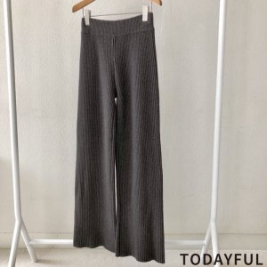 【SOLDOUT】TODAYFUL トゥデイフル Knit Rib PT 11820714 【18AW2】【人気商品】<img class='new_mark_img2' src='https://img.shop-pro.jp/img/new/icons47.gif' style='border:none;display:inline;margin:0px;padding:0px;width:auto;' />