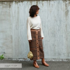 【SOLDOUT】TODAYFUL トゥデイフル Check Knit SK 11820812 【18AW2】【20☆】<img class='new_mark_img2' src='https://img.shop-pro.jp/img/new/icons47.gif' style='border:none;display:inline;margin:0px;padding:0px;width:auto;' />