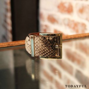【SOLDOUT】TODAYFUL トゥデイフル Python Leather Bangle 11620941 【16AW2】 <img class='new_mark_img2' src='https://img.shop-pro.jp/img/new/icons47.gif' style='border:none;display:inline;margin:0px;padding:0px;width:auto;' />