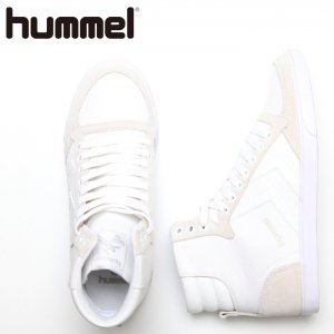 HUMMEL ヒュンメル SLIMMER STADIL CANVAS HIGH  【カラー: WHITE】 HM63111K-9001 【16SS】 【新作】 <img class='new_mark_img2' src='https://img.shop-pro.jp/img/new/icons11.gif' style='border:none;display:inline;margin:0px;padding:0px;width:auto;' />