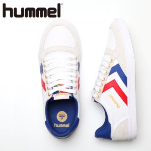 HUMMEL ヒュンメル SLIMMER STADIL CANVAS LOW  【カラー: WHITExREDxBLUE】 HM63112K-9228 【16SS】 【新作】 <img class='new_mark_img2' src='//img.shop-pro.jp/img/new/icons11.gif' style='border:none;display:inline;margin:0px;padding:0px;width:auto;' />