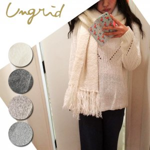 【SOLDOUT】UNGRID アングリッド 【Ca】ブークレニットストール 111651034701 【16AW2】<img class='new_mark_img2' src='https://img.shop-pro.jp/img/new/icons47.gif' style='border:none;display:inline;margin:0px;padding:0px;width:auto;' />