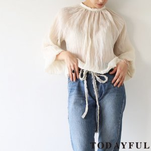 TODAYFUL トゥデイフル Cottoncrape Balloon Blouse 11810415 【18SS1】【先行予約】【クレジット限定 納期3月〜4月頃予定】 <img class='new_mark_img2' src='https://img.shop-pro.jp/img/new/icons15.gif' style='border:none;display:inline;margin:0px;padding:0px;width:auto;' />