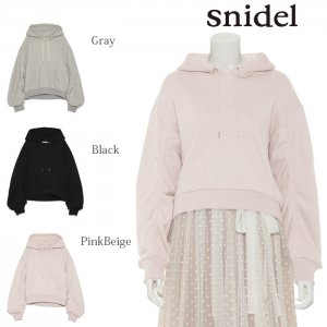 SNIDEL スナイデル スリーブデザインパーカー SWCT174209 【17AW1】【SALE】【50%OFF】<img class='new_mark_img2' src='https://img.shop-pro.jp/img/new/icons20.gif' style='border:none;display:inline;margin:0px;padding:0px;width:auto;' />