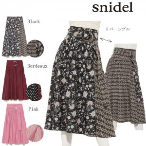 SNIDEL スナイデル リバーシブルラップスカート SWFS174146 【17AW1】【先行予約】【クレジット限定 納期9/末〜10/末頃予定】 <img class='new_mark_img2' src='https://img.shop-pro.jp/img/new/icons15.gif' style='border:none;display:inline;margin:0px;padding:0px;width:auto;' />