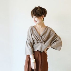 TODAYFUL トゥデイフル Gather Cross Pullover 11820623 【18AW1】【先行予約】【クレジット限定 納期7月〜8月頃予定】 <img class='new_mark_img2' src='https://img.shop-pro.jp/img/new/icons15.gif' style='border:none;display:inline;margin:0px;padding:0px;width:auto;' />