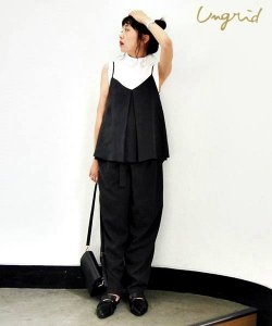 【SOLDOUT】UNGRID アングリッド 【Cl】テンセルタックキャミソール 111640414301 【16AW1】 <img class='new_mark_img2' src='https://img.shop-pro.jp/img/new/icons47.gif' style='border:none;display:inline;margin:0px;padding:0px;width:auto;' />