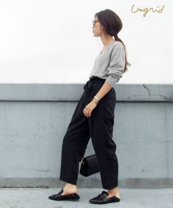 【SOLDOUT】UNGRID アングリッド 【Cl】ウエストリボンテンセルタックパンツ 111640711501 【16AW1】 <img class='new_mark_img2' src='https://img.shop-pro.jp/img/new/icons47.gif' style='border:none;display:inline;margin:0px;padding:0px;width:auto;' />