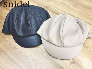【SOLDOUT】SNIDEL スナイデル 切り替えキャスケット SWGH174625 【17AW1】