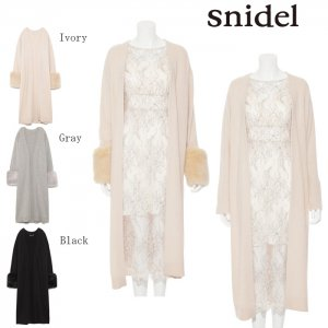 SNIDEL スナイデル ファースリーブロングカーディガン SWNJ174211 【17AW1】【先行予約】【クレジット限定 納期2017/09/下〜10/下頃予定】<img class='new_mark_img2' src='https://img.shop-pro.jp/img/new/icons15.gif' style='border:none;display:inline;margin:0px;padding:0px;width:auto;' />