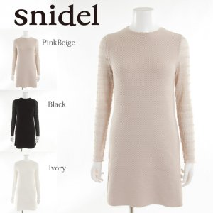 SNIDEL スナイデル シースルースリーブニットOP SWNO174070 【17AW1】【SALE】【40%OFF】<img class='new_mark_img2' src='https://img.shop-pro.jp/img/new/icons11.gif' style='border:none;display:inline;margin:0px;padding:0px;width:auto;' />
