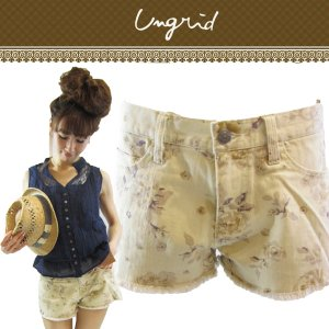 UNGRID アングリッド フラワープリントショートパンツ 111310728201【13SS】【SALE】【60%OFF】<img class='new_mark_img2' src='//img.shop-pro.jp/img/new/icons20.gif' style='border:none;display:inline;margin:0px;padding:0px;width:auto;' />