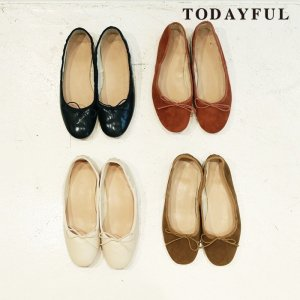 TODAYFUL トゥデイフル Round Ballet Shoes 11821024 【18AW1】【先行予約】【クレジット限定 納期8月〜9月頃予定】 <img class='new_mark_img2' src='https://img.shop-pro.jp/img/new/icons15.gif' style='border:none;display:inline;margin:0px;padding:0px;width:auto;' />