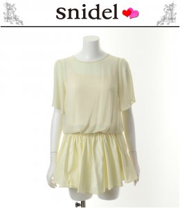 SNIDEL スナイデル ローウエスト切替コンビワンピース SNIDEL SWFO132153【13SS】【SALE】【60%OFF】<img class='new_mark_img2' src='https://img.shop-pro.jp/img/new/icons20.gif' style='border:none;display:inline;margin:0px;padding:0px;width:auto;' />