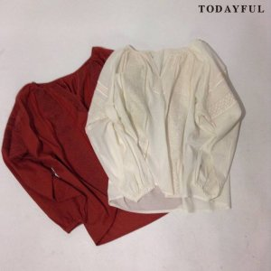 【SOLDOUT】TODAYFUL トゥデイフル Embroidery Skipper Blouse 11620423 【16AW2】 <img class='new_mark_img2' src='https://img.shop-pro.jp/img/new/icons47.gif' style='border:none;display:inline;margin:0px;padding:0px;width:auto;' />