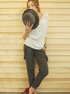 UNGRID アングリッド ステッチストライプサスペンダーパンツ 111330732301 【13AW】【SALE】【60%OFF】<img class='new_mark_img2' src='https://img.shop-pro.jp/img/new/icons20.gif' style='border:none;display:inline;margin:0px;padding:0px;width:auto;' />