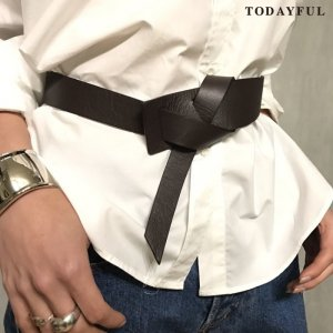 TODAYFUL トゥデイフル Buckle Leather Belt 11721015 【17AW1】【先行予約】【クレジット限定 納期7月頃】 <img class='new_mark_img2' src='//img.shop-pro.jp/img/new/icons15.gif' style='border:none;display:inline;margin:0px;padding:0px;width:auto;' />