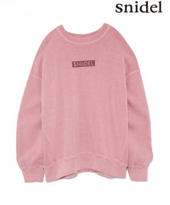 SNIDEL スナイデル ピグメントロゴスウェット SWCT184134 【18AW1】【新作】 <img class='new_mark_img2' src='https://img.shop-pro.jp/img/new/icons11.gif' style='border:none;display:inline;margin:0px;padding:0px;width:auto;' />
