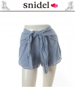 SNIDEL スナイデル スリーブベルトショートパンツ SWFP134151【13AW】 【SALE】【60%OFF】<img class='new_mark_img2' src='//img.shop-pro.jp/img/new/icons20.gif' style='border:none;display:inline;margin:0px;padding:0px;width:auto;' />