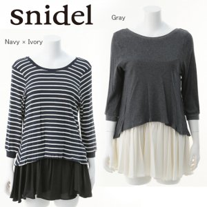 SNIDEL スナイデル カット×シフォンコンビワンピース SWCO134155 【13AW2】【SALE】【60%OFF】<img class='new_mark_img2' src='https://img.shop-pro.jp/img/new/icons20.gif' style='border:none;display:inline;margin:0px;padding:0px;width:auto;' />
