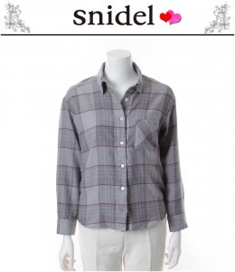 SNIDEL スナイデル オリジナルチェックシャツ SWFB134064 【13AW】【SALE】【60%OFF】<img class='new_mark_img2' src='https://img.shop-pro.jp/img/new/icons20.gif' style='border:none;display:inline;margin:0px;padding:0px;width:auto;' />