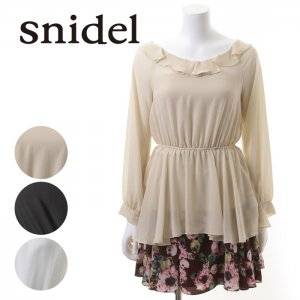 SNIDEL スナイデル 長袖チュニック SWFB135188 【13AW2】【SALE】【70%OFF】<img class='new_mark_img2' src='https://img.shop-pro.jp/img/new/icons20.gif' style='border:none;display:inline;margin:0px;padding:0px;width:auto;' />