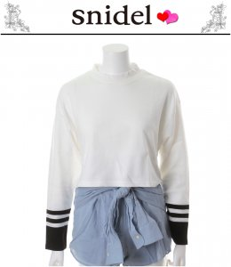 SNIDEL スナイデル 袖ラインカットトップス SWCT135166 【13AW2】【SALE】【60%OFF】