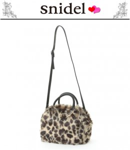 SNIDEL スナイデル ファーボストンバッグ SWGB135614 【13AW2】【SALE】【60%OFF】<img class='new_mark_img2' src='//img.shop-pro.jp/img/new/icons20.gif' style='border:none;display:inline;margin:0px;padding:0px;width:auto;' />